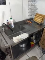 Pia inox para cozinha