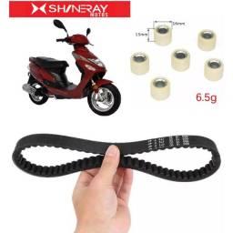 Título do anúncio: Correia + Roletes da Polia Scooter Shineray Bike/Retrô EX/Auguri SS50
