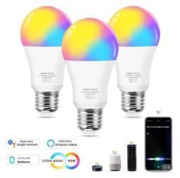 Lâmpada Inteligente 12W RGB via Wifi
