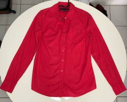 Camisa Tommy Hilfiger Feminina Rosa Escuro, P, Nova, Original, Importada