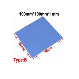 Thermal Pad Silicone Dissipador Calor Térmico 100mmX100mmX1mm PS3 Ps4 Ps5 Xbox One Series