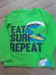 Camiseta praia piscina Carters tam 10 e 12 anos