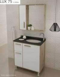 Banheiro Lux Com Cuba em Granito embutido
