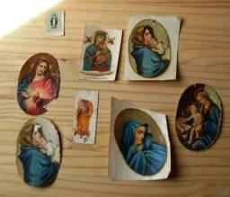 Raro - Colecionáveis Antigos Anos 60 - Lote 9 Decalques Antigos Motivos Religiosos