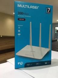 Roteador Wireless Multilaser com 3 antenas de 5dBi, 300Mbps