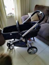 Carrinho de Bebê Kiddo Travel System Compass II Com bebê conforto+ Suporte para carro