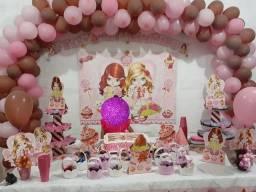Kit de aniversário infantil feminino ou troca por um ventilador