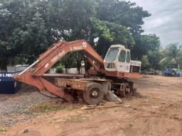 Poclain escavadeira com pneus gabine baixa