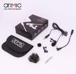 Lapela Microfone Omnidirecional Tipo Boya - Arimic