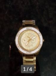 Relógio Puma dourado_ não aceito troca