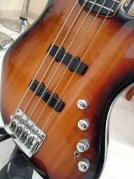 Baixo Squier Deluxe 5c Ativo Jazz Bass