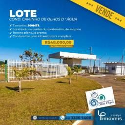 Lote Condomínio Caminho de Olhos da Águas, 500 m²