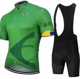 Roupas para Ciclismo Masculinas e Femininas - Macaquinho e Bretelle com Gel