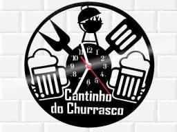Relógio de parade, Cantinho do Churrasco, em vinil