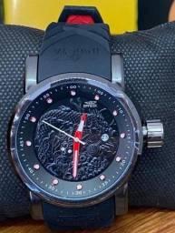 Título do anúncio: Relógio Invicta Black Pulseira Silicone Exclusive