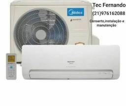 Instalação e conserto de Split ar condicionado
