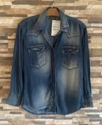 Camisa jeans nova Sacada