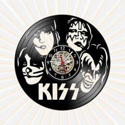 Relógio de parede, Kiss, em vinil