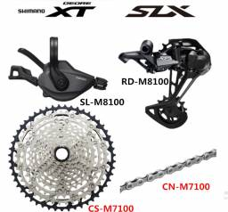 Grupo kit relaçao Shimano 12 velocidades XT M8100 Slx 12v Cassete 10-51 Kit 4Peças