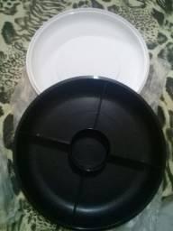 Pestiqueira e vasilha de fondue tuppewar