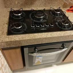 Instalação de Cooktop e forno