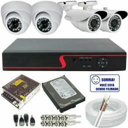 Kit cameras com dvr e hd