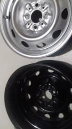 Título do anúncio: rodas com pneus ou sem aro 14 pra todos carro
