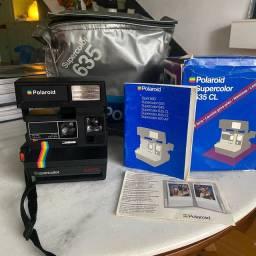 Camera Fotográfica Polaroid 635L completa