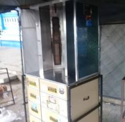 Vemdo máquina de churrasco grego