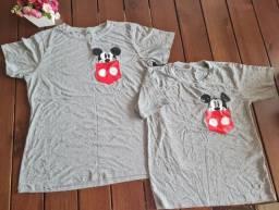 Camisa tal mãe e tal filho Novas Mickey