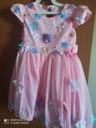Vestido jardim encantado rosa novo