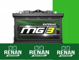 Título do anúncio: Bateria carro MG3 12 meses de garantia 60ah Gol Uno Palio Classic