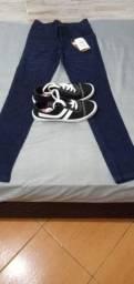 Kit calça e tênis juntos OBS são novos 70 reais os 2 juntos