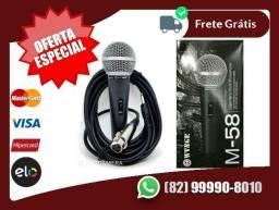 Com.A-Entregah-Ghratis->Microfone Profissional M58 + Cabo