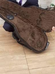 Semi case violão Godin Courotop com pelúcia