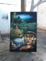 Quadro Artes indígena