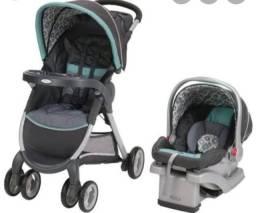 Vendo carrinho e bebê conforto(pouco usado)