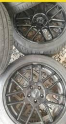 Rodas Giovanna aro 20 com pneus Kumho novos 245/45 r20