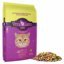 Ração Vita Gato Mix Adultos - 25 Kg