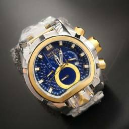Relógio Invicta Zeus Magnum Prata e Azul