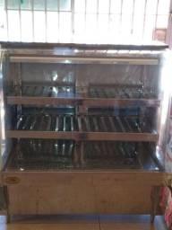 Balcão vitrine expositor quente/estufa semi novo
