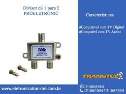 Divisor para Antena Digital e Tv a Cabo 1/ 2 Proeletronic 1GHZ Blindado
