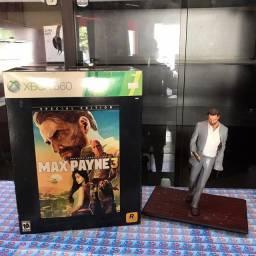 Max Payne 3 estátua e jogo original Xbox 360 (novo)