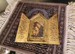 Quadro oratório antigo e dourado