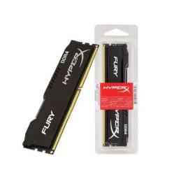 Memória 8GB HyperX DDR4 Preta - NOVO - Loja Física