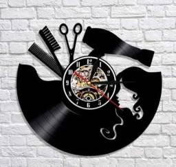 Relógio de parede, Studio De Cabelo, em vinil