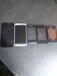 Vários celulares para retirar peças