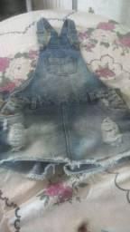 Jardineira jeans número 40