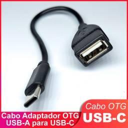 Cabo adaptador OTG USB-A Fêmea para USB-C Macho