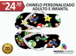 Chinelos personalizados adulto e infantil